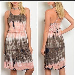 Boutique Boho Tie Dye Dress NWT